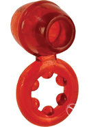 Dual Support Magnum Ring Cock Ring - Red
