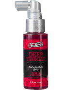 Goodhead Deep Throat Oral Anesthetic Spray Wild Cherry 2oz
